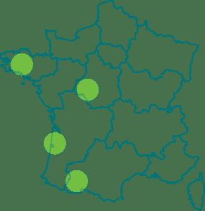 Carte résidences séniors Les Jasmins 2020